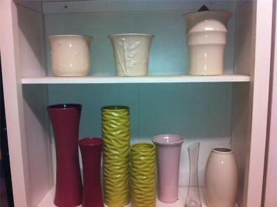 Ceramic Vases And Planters Various Sizes Wholesale  Clearance Bankrupt Stock