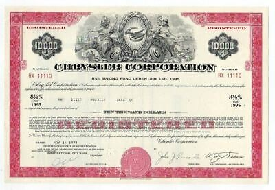 Chrysler Corporation Bond