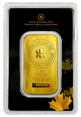 Royal Canadian Mint RCM 1 Troy Oz .9999 Gold Bar Sealed w/Assay Cert. SKU27048
