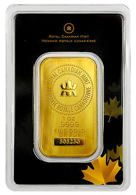 Royal Canadian Mint RCM 1 oz .Gold Bar Sealed w/Assay Cert SKU27048