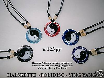 6 MIX COLOUR CHINESE YIN YANG NECKLACES WITH BEADS WHOLESALE PRICE / n123gy