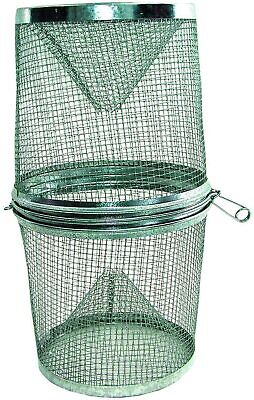 Two (2) Gee's G40 Galvanized Minnow Bait Fish Traps  Freshwater Saltwater Snake
