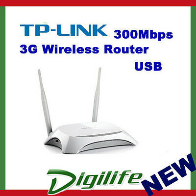 TP-Link TL-MR3420 Wireless N 300Mbps 3G/4G Router USB UMTS/HSPA/EVD