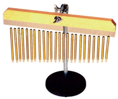 POWERBEAT Hanging Chimes 24 Gold Coloured Bars On Desk Stand *NEW*