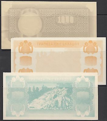 Bank Of Greece #117 1941 Inflation Issue Progressive Proofs Hv5482