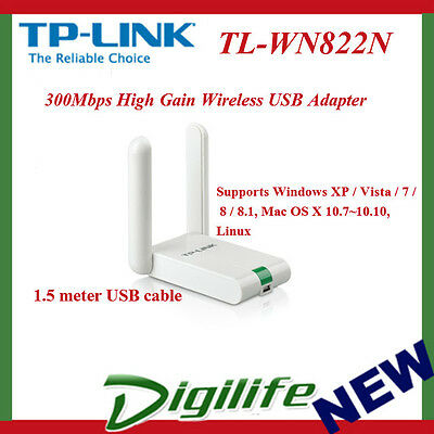 TP-LINK TL-WN822N 300Mbps Wireless N USB Adapter Dongle