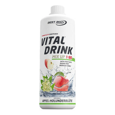 Best Body Nutrition Low Carb Vital Mineral Drink Konzentrat 1L - Apfel-Holunder
