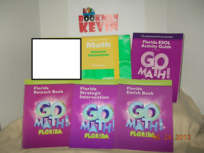 GO MATH ASSESSMENT Workbook Bundle Grade 3 2011 VG 6 4 3 Lot Of 5