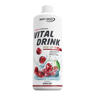 Best Body Nutrition Low Carb Vital Mineral Drink Konzentrat 1L - Kirsche