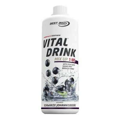 Best Body Nutrition Low Carb Vital Mineral Drink Konzentrat 1L Johannisbeere