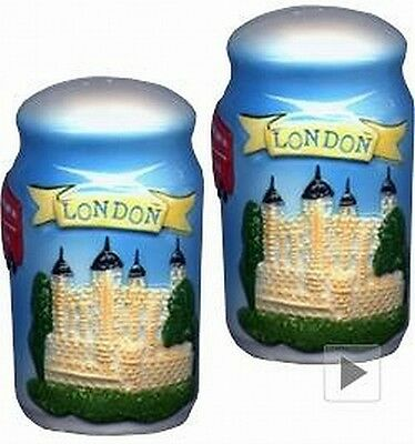 London Salz & Pfeffer Streuer Tower Bridge,Big Ben etc.,England Salt & Pepper