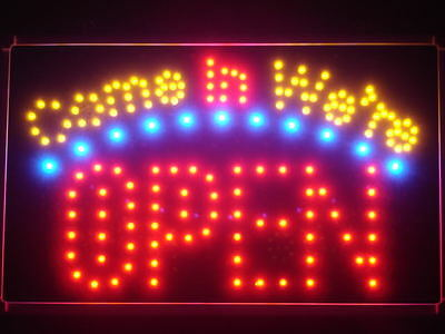 led003-r Come in we're OPEN Business LED Neon Light Sign