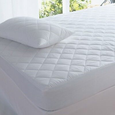 Anti DUST MITE Cotton Polyester Fitted  Mattress Protector Healthguard  New