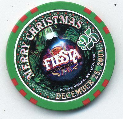 Las Vegas $25 Fiesta Merry Christmas 2001  Casino Chip