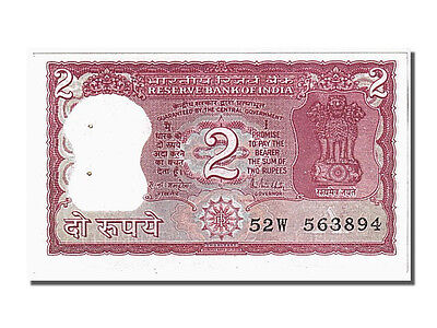 [#105406] India, 2 Rupees, KM #53a, UNC(63), 52W 563894