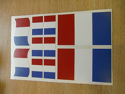 FRENCH FLAG STICKERS SHEET SIZE 21cm x 14cm - FRANCE TRICOLOR - DECALS