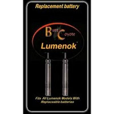 Burt Coyote LUMENOK STANDARD  AND X NOCKS, REPLACEMENT BATTERIES, PACK OF 2!!!!