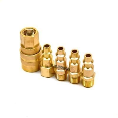 5pc Brass Air Quick Release Coupler Fittings Air Line End Connector TE516