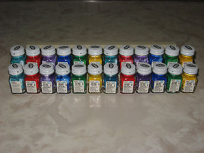 24 Testors Acrylic Paint 1/4 Oz Pre Thinned 4 Airbrush 6 Different Colors New