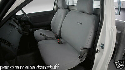 Toyota Hilux Front Canvas Seat Covers 2× Bucket Seats Auto Workmate GENUINE NEW