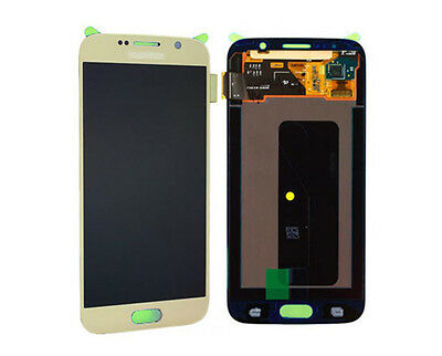 Original Samsung Galaxy S6 SM G920F LCD Display Touchscreen Touch Panel Gold