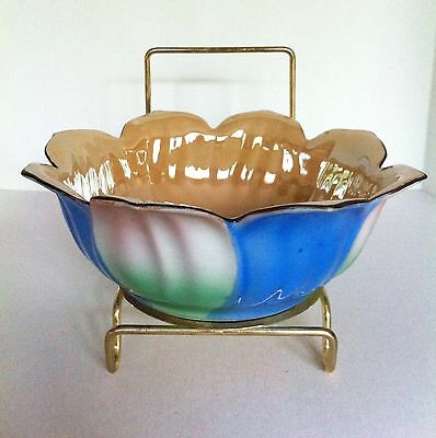 Made In Japan Lusterware Soup Bowl Lotus Blossom