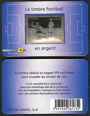 France Soccer World Cup South Africa 2010 Stamp Silver 999 MNH**