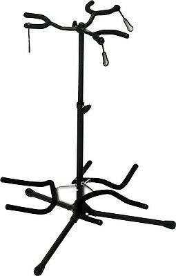 L.A Stands Tubular Triple Guitar stand Holds 3 electric bass or acoustic Guitars