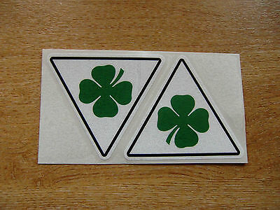 Alfa Romeo Cloverleaf decals - 75mm sticker pair - modern / classic