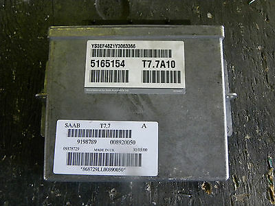 2000 Saab 9-5 SE Fuel Injection ECU 5165154  T7.7A10