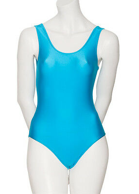 Ladies Dance Ballet Sleeveless Shiny Lycra Leotard All Colours & Sizes KDC026