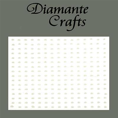 240 x 1mm Ivory Pearl Self Adhesive Rhinestone Craft Embellishment Gems
