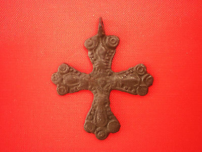 Great Ancient Rare Viking CROSS PENDANT Scandinavian type 10-11 century AD