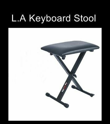 L.A Stands Keyboard / Piano Adjustable Folding Bench stool 44cm - 50cm Height