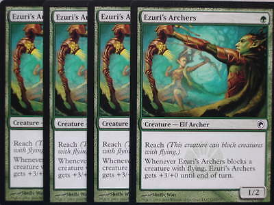 XXX 4x EZURI'S ARCHERS englisch scars of mirrodin (elf reach green) NM/MINT XXX