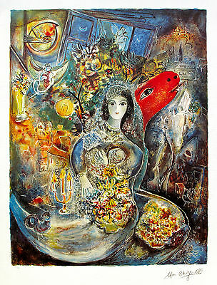 "MARC CHAGALL ""BELLA"" Limited Edition Facsimile Signed Ltd Edition Lithograph Art"