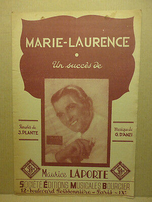 Partition Marie-Laurence / Maurice Laporte