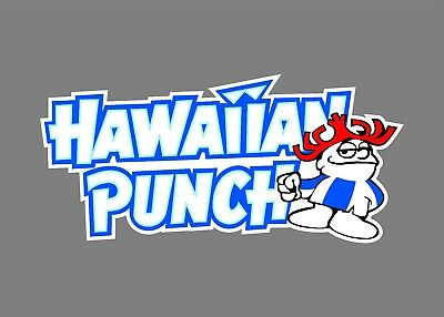 Hawaiian Punch Window Car Auto Bumper Sticker Decal Punchy