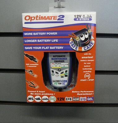 Optimate 2 Motorcycle Battery Charger Optimiser 12V