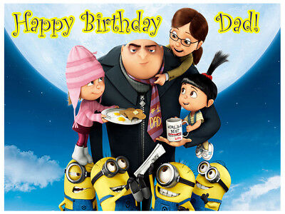 Despicable Me Real Edible Icing Cake Image Party Topper Frosting Sheet