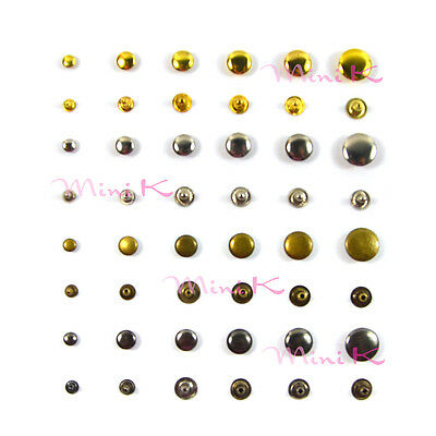 Flat Rivet Metal Spike Studs Leathercraft DIY Fashion Biker Rapid Punk Rock