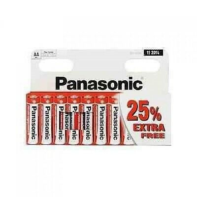 10 X PANASONIC AA Zinc Carbon Batteries Battery Pack Of 10 CELL 1.5V