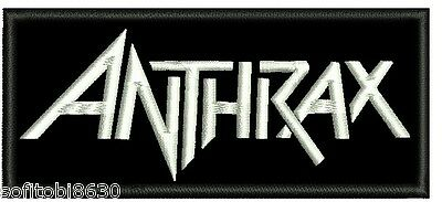 ANTHRAX EMBROIDERED PATCH THRASH HEAVY RAVEN ABATTOIR SPEED TOXIK Metal Negro