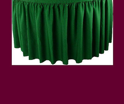 14' Burgundy Premium Flame Retardant Table Skirts Fire Resistant Table Skirting