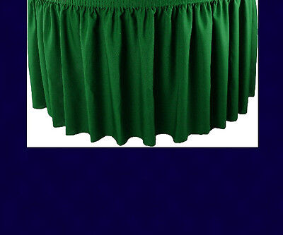 17' Navy Premium Flame Retardant Table Skirts - Fire Resistant Table Skirting