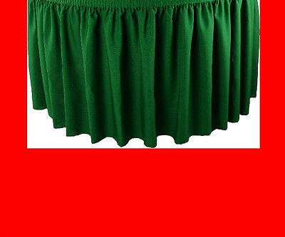 17' Red Premium Flame Retardant Table Skirts - Fire Resistant Table Skirting