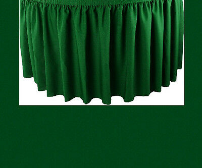21' Hunter Premium Flame Retardant Table Skirts - Fire Resistant Table Skirting
