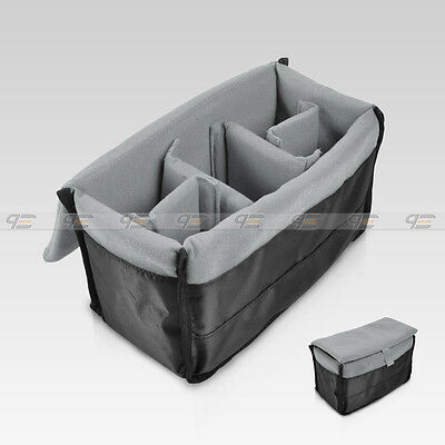 New Insert Padded Camera DSLR Inner Folding Divider Partition  Case  Black