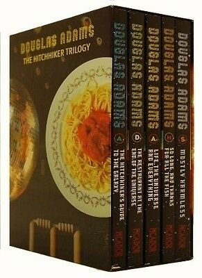 Douglas Adams 5 Books set The Hitchhikers Guide to the Galaxy Full Brand New Set