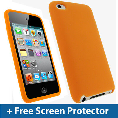 Orange Silicone Skin Case for Apple iPod Touch 4th Gen 4G Bumper iTouch Cover